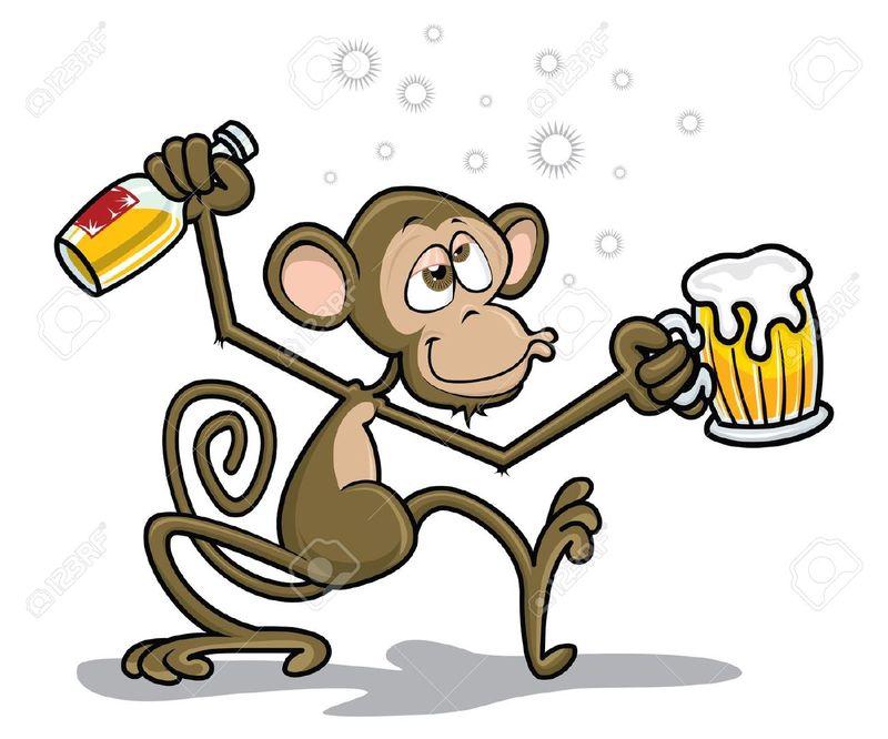 18085504-Drunk-Monkey-Stock-Vector-cartoon
