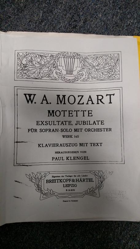 Exsultate  jubilate (Exult  rejoice)  K. 165  is a 1773 motet by Wolfgang Amadeus Mozart